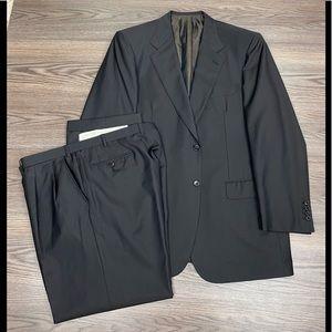 Brioni Brown Herringbone Super 150's Suit 46L